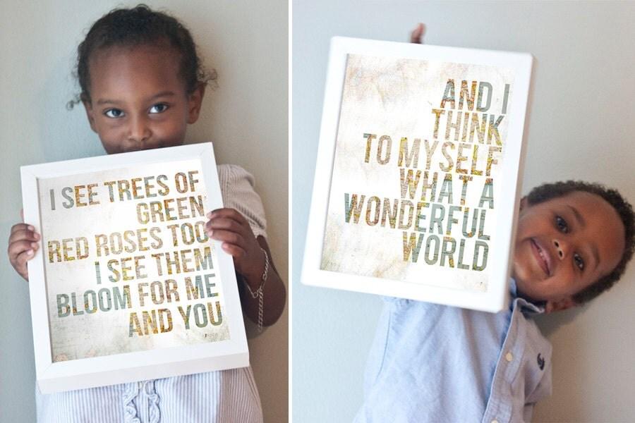 Wonderful World print set