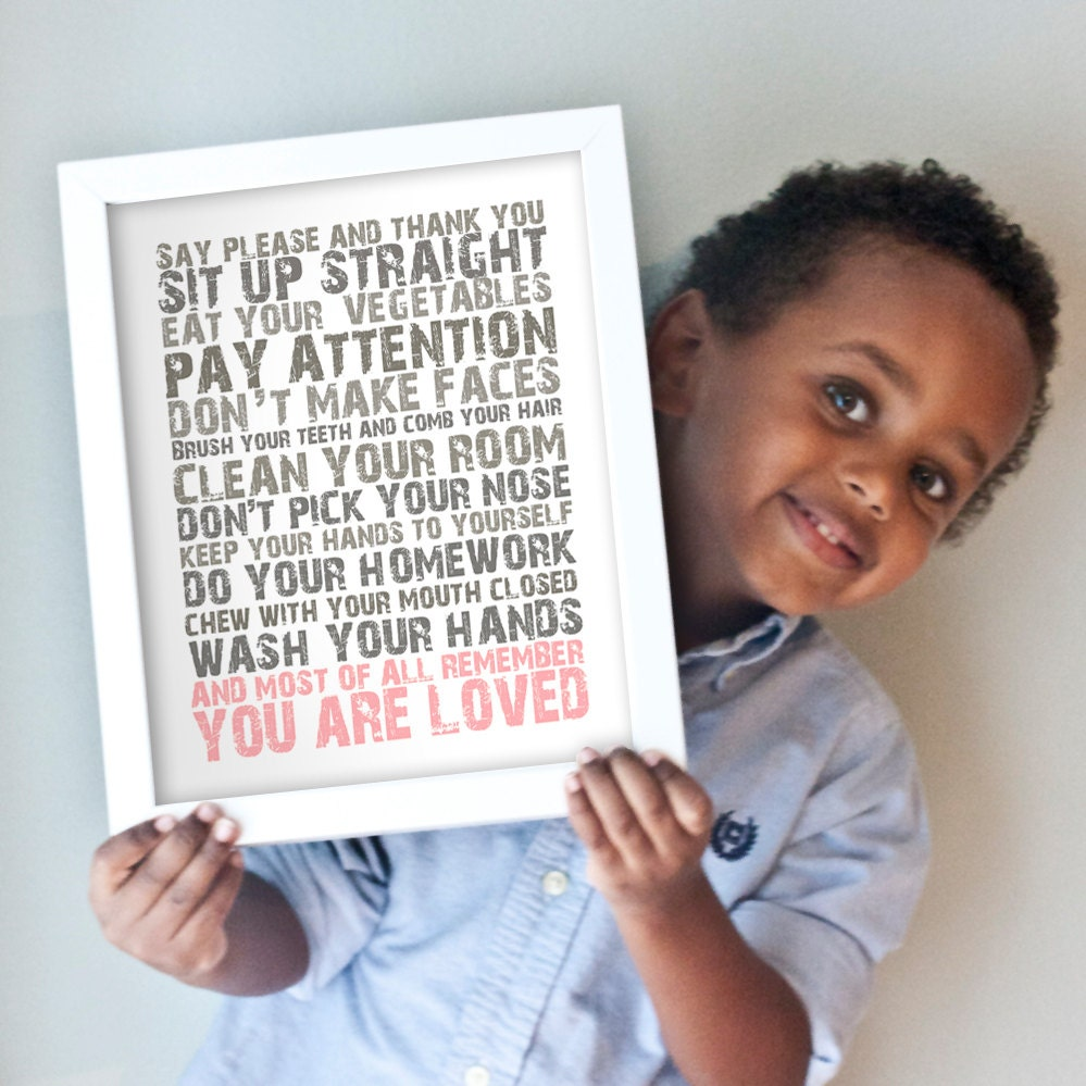 Printable 11x14 You Are Loved - pink