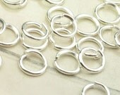 Silver Jump Ring,100pc Silver plated Metal Jump Rings 0.9mmx6mm,for DIY projects
