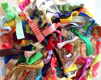 300 hairties : Such A Deal Collection of ribbon elastic hair ties, Grab bag of hair ties