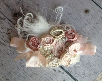 Politely Pink headband by Cozette Couture