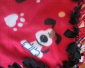 Small Dog Blanket-Fleece hand tied Puppy Blanket