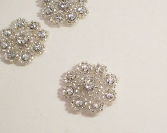 Tiny Crystal Beaded Rhinestone Applique--One Piece