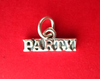 Sterling Silver PARTY Tag Charm