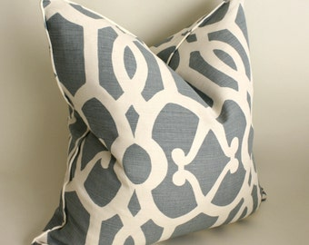 Pair of Kravet's High End Linen Pillow Covers, Cushion Covers, Throw Pillows, Decorative Pillows