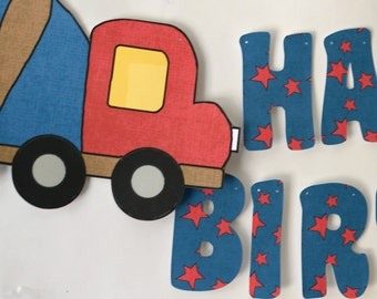 Construction Birthday Party BANNER, Dump Truck Party Decorations