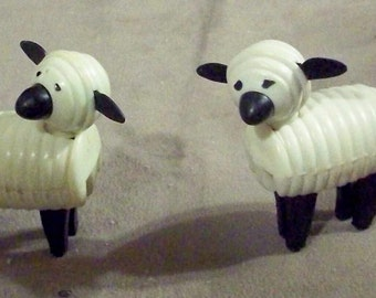 Fisher-Price early vintage white Sheep plus a 2nd variation Sheep Farm Animals