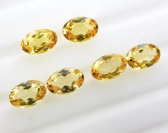 IMPERIAL / PRECIOUS ToPAZ. Natural. Native Cut. Oval Shape. Matched Pair. 2 pc. 1.25 cts. 4x6 mm  (Bt398)