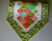 Modern Patchwork Quilted Table Runner, Table Topper, Bright Colors, Scrumptious by Moda