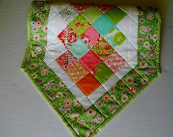 Modern Quilted Table Runner, Quilted Table Topper, Patchwork Runner, Table Quilt, Spring, Summer, Bright Colors