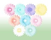 Digital flower clipart Gerbera Daisy Pastel Flower png flower clip art Digital clipart Flowers Printable  Spring flower Floral clipart