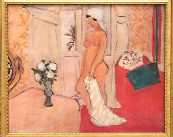 Henri Matisse Poster of Nu au turban blanc
