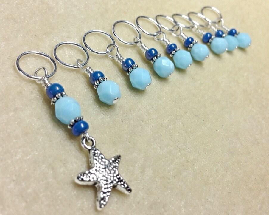 Beaded Knit Stitch Marker Pattern : Snag less Starfish Knitting Marker Gifts by JillsHandmadeStuff