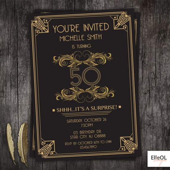 Great Gatsby Party Invitations can inspire you to create best invitation template