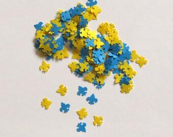 Fleur de lis Confetti Yellow Blue Boy Scout 675 Pieces