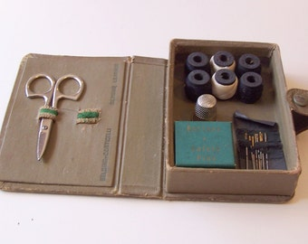 Vintage Leather Sewing Kit