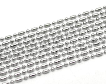 BULK 32Ft Chain Stainless Steel Ball Chain 2.4mm FD92