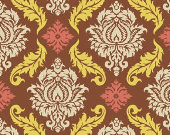 SALE! Modern Fabric Cotton Quilt Fabric Joel Dewberry True Colors Fabric Damask in Maple One Yard