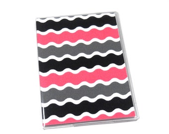 SALE Passport Cover Pink Stripes