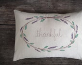 Decorative Pillow Cover, Personalized Home Decor, Cottage Style Room Decor, Embroidered Pillow, Gift under 75, MADE TO ORDER