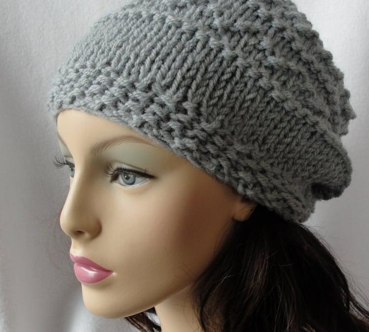Knitting Pattern For Dolls Beanie : Knitted Hat Pattern Knit slouch beanie pattern by longbeachdesigns