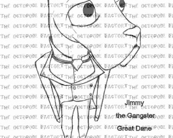 INSTANT DOWNLOAD Jimmy the Gangster Great Dane