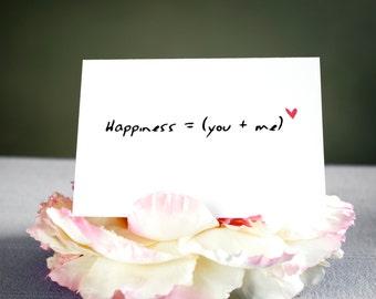 Power of love - Blank greetings card