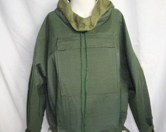 1970s ViNTaGe Hoodie/ Mens /Womens Army Green Hoodie / NEW/ Spring/Summer Hoodie