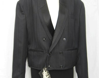 Mens Vintage Tuxedo Jacket NEW Black Tuxedo Jacket Casualman by 'UTEX'