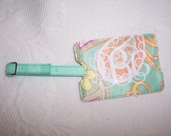 Personalized Paisley Luggage Tag