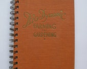 Upcycled Book Journal - Bio-Dynamic Farming and Gardening