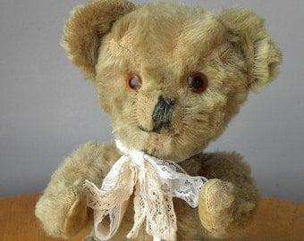 """Vintage 13"""" Bear - 1950's Bear - Lefray Teddy Bear - Mohair Bear"""