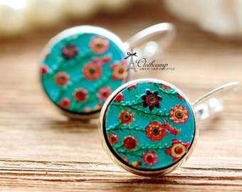 20% off -Unique 3D Embossed Flowers 16mm Round Handmade Wood Cut Cabochon to make Rings, Earrings, Bobby pin,Necklaces, Bracelets-(WG-38)