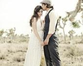 Halter style destination wedding gown