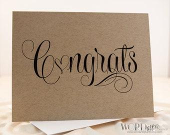 Congrats Kraft Note Card