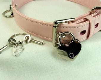 BDSM Collar Locking Slave Collar with Lock bondage collar submissive collar