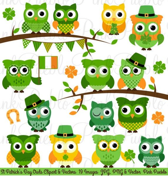 St Patrick's Day Owl Clipart Clip Art St Patricks Day