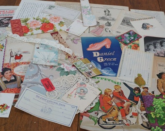 Vintage Paper Ephemera For Your Artwork 40 Pieces