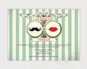 Wedding Photo Booth - Vintage Style Invitation - DIY printable file