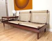 RESERVED - Hans Olsen Modular Sofa / Daybed / Love Seat - Teak Rope Seating / Coffee Table - Mid-Century Danish Modern Furniture