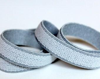 5 yards Plush Back Elastic, Light Gray Elastic,  Bra Making Elastic, Sewing Supplies, New Elastic, elas007/5