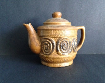Vintage Ceramic Japanese Teapot, Brown