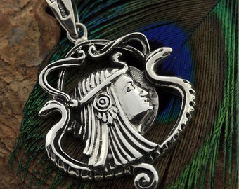 MojoII Jewelry Egyptian Magic Goddess Isis Boat Silver Pendant