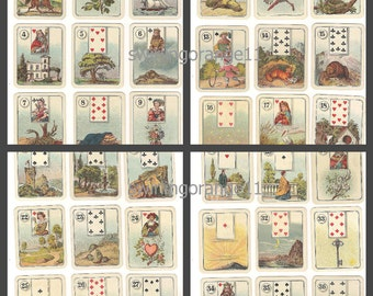 Fortune Teller Card Deck Download, Digital Download Carreras Wide Fortune Telling Card Deck