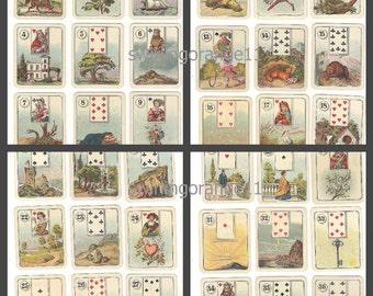 Fortune Teller Card Deck Download  /  Digital Download Carreras Wide Fortune Telling Card Deck