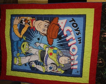 Toy Story Panel Toddler Quilt