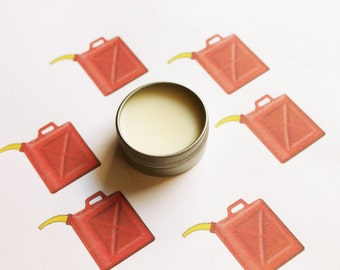 Gasoline Scented Lip Balm - Natural Shea Butter Lip Balm - Cocoa Butter - Beeswax - Lip Balm Tin - Lip Balm Favors - Matte Lipstick