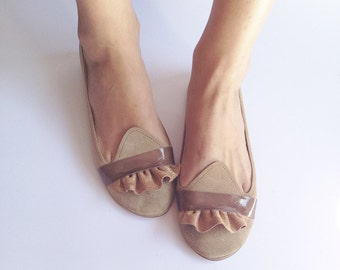 The Ruffled Loafers - Handmade Leather Flat Shoes