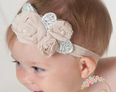 CHOOSE COLOR Baby headbands,White baby headband, Pink Baby headband,Newborn Headband, Baby girl Headband, Christenig headband, Baby Bows.