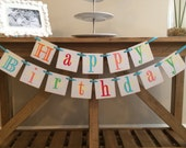 Multi Colored Happy Birthday Garland Banner / Boy / Girl / Adult / Any Theme